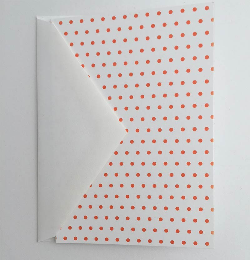 Tangerine Dotted Notecards