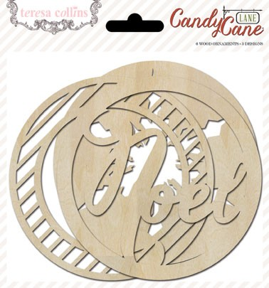 Candy Cane Lane Wood Ornaments