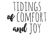 Tidings of Comfort Rubber Stamp 1893c