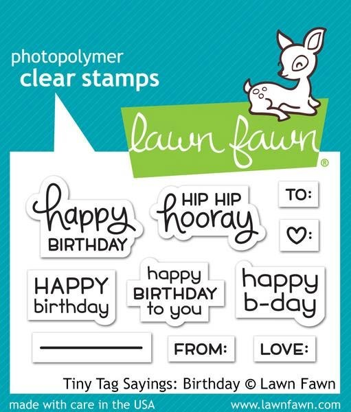 Lawn Fawn Tiny Tag Sayings Birthday