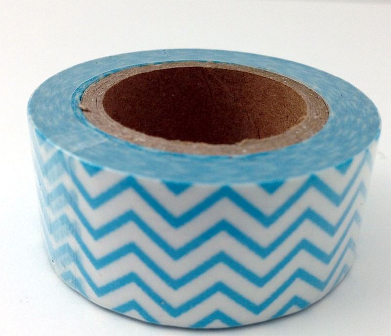 Wide Turquoise Chevron Tape
