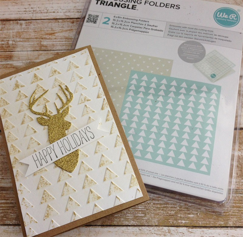 Triangle Embossing Folder