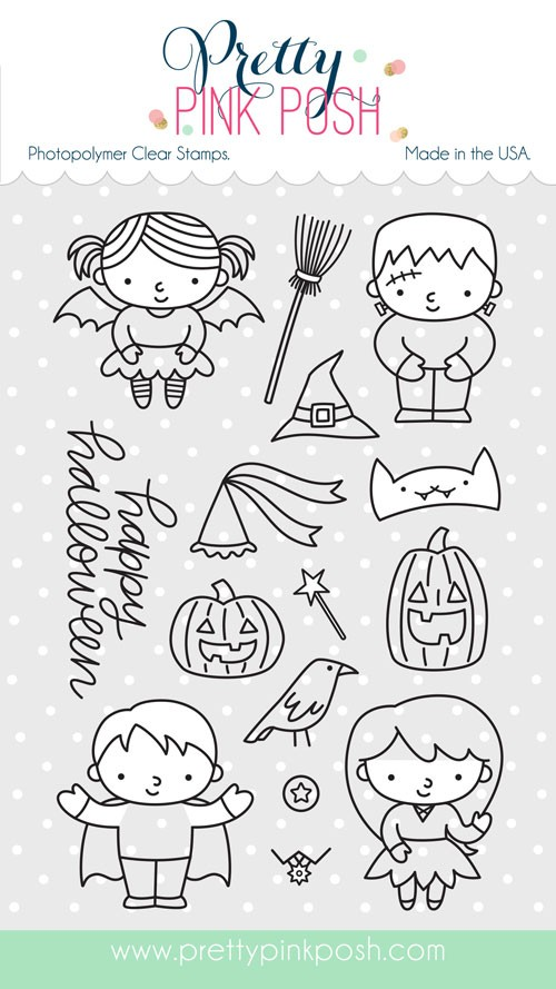 Pretty Pink Posh Trick or Treat Friends Stamp Set
