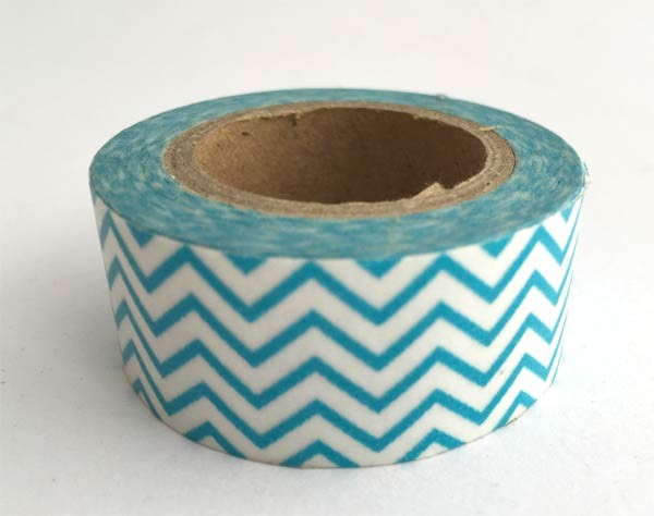 Turquoise Chevron Washi Tape