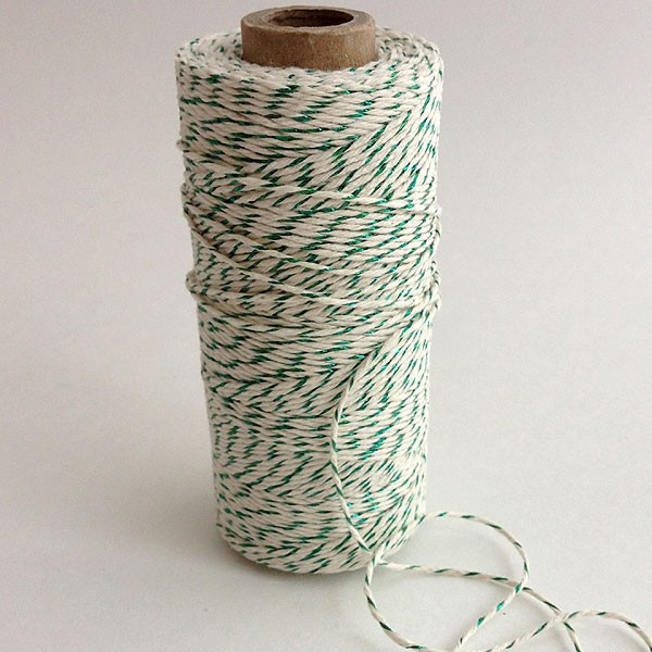 Green Metallic Twine