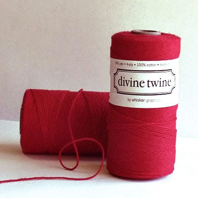 solid red twine