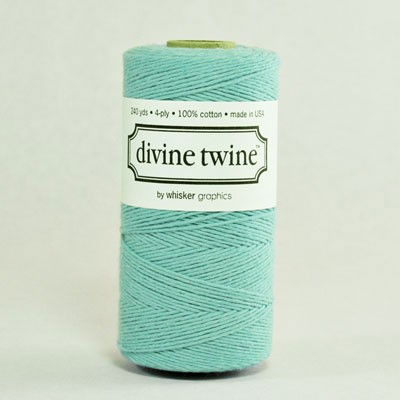 Solid teal twine