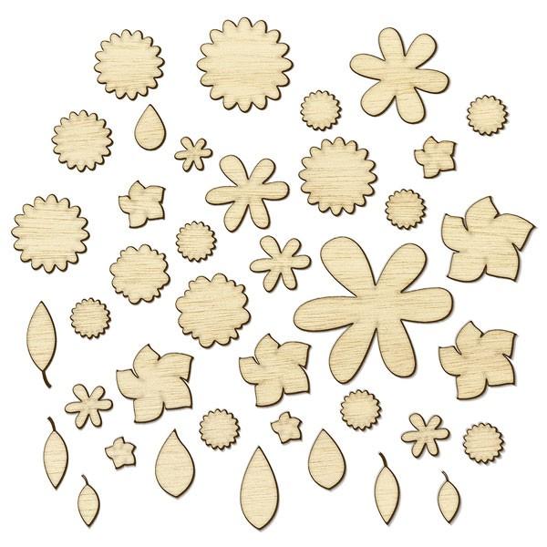 Wood Veneer Flowers