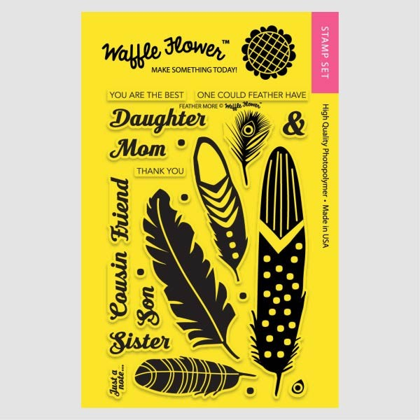 Waffle Flower Feather More Clear Stamp Set