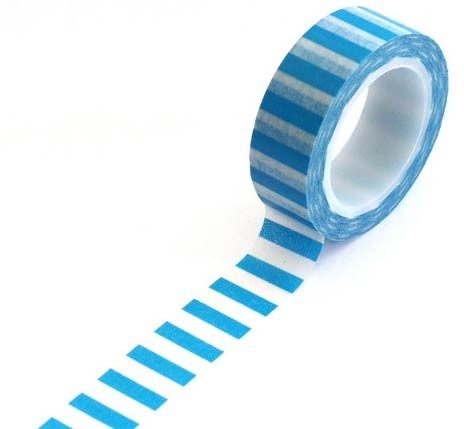 Blue Horizontal Stripe Washi Tape