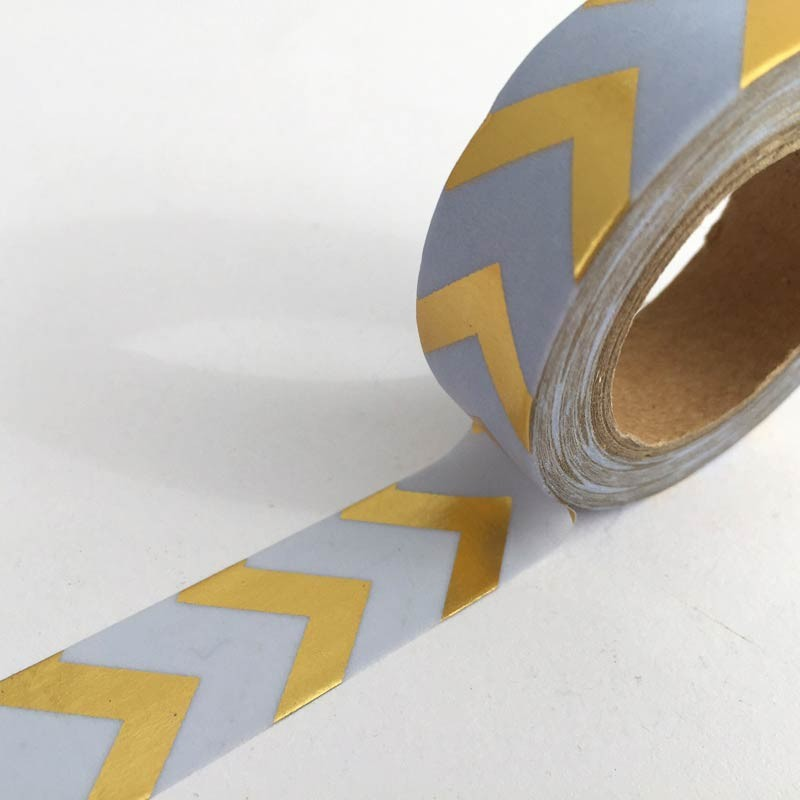 Lavendar and Gold Chevron Washi Tape