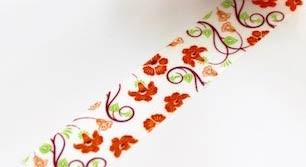Orange Floral Washi Tape