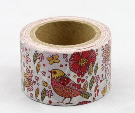Wide bird washi tape