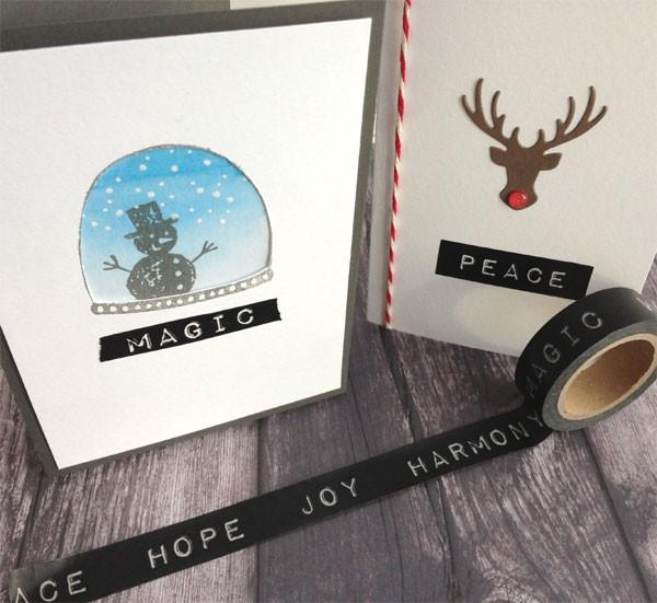 Holiday Words on Black Washi Tape