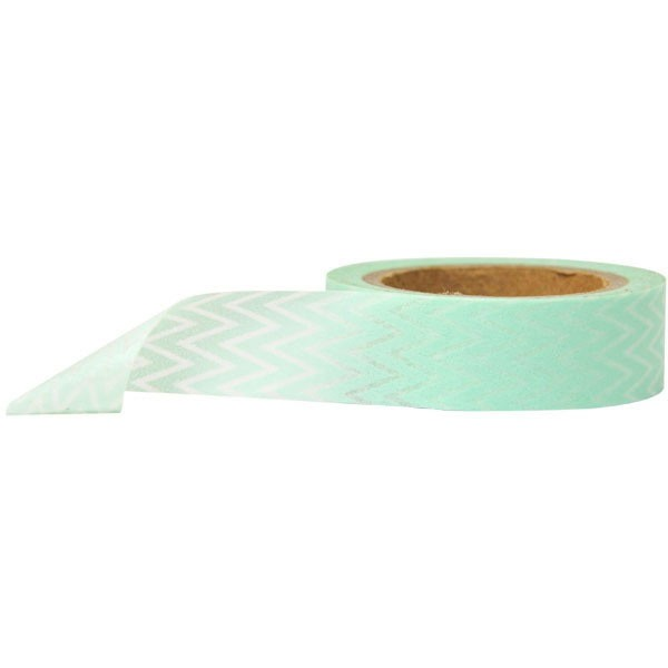 green chevron washi tape