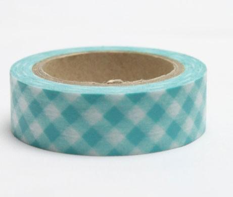 Blue Crisscross Gingham Tape