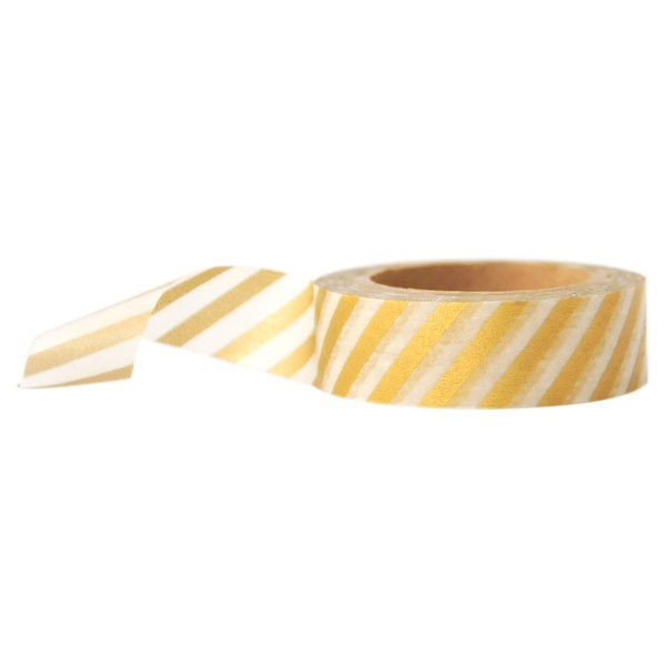 gold diagonal stripe washi tape