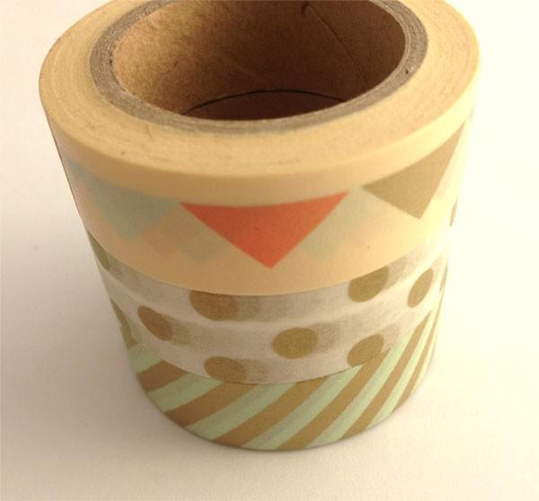 washi tape trio - triangle, dots and stripes