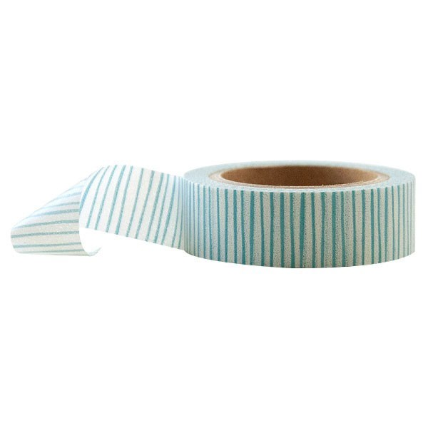 Light Blue Stripes Washi Tape