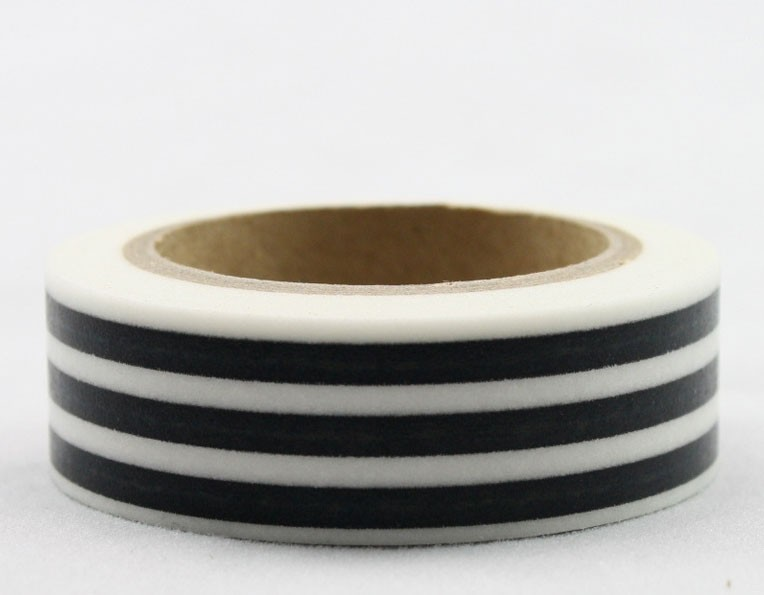Wider Black Stripe Washi Tape