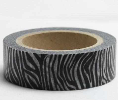Black Zebra Washi Tape