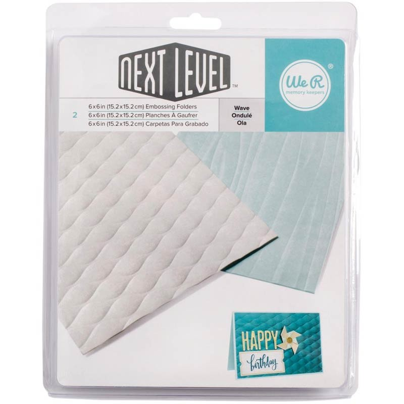 "Next Level Wave Embossing Folders 6""X6"" 2/Pkg"