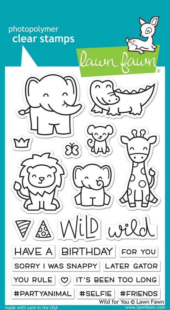 Lawn Fawn Wild About You Clear Stamp Set