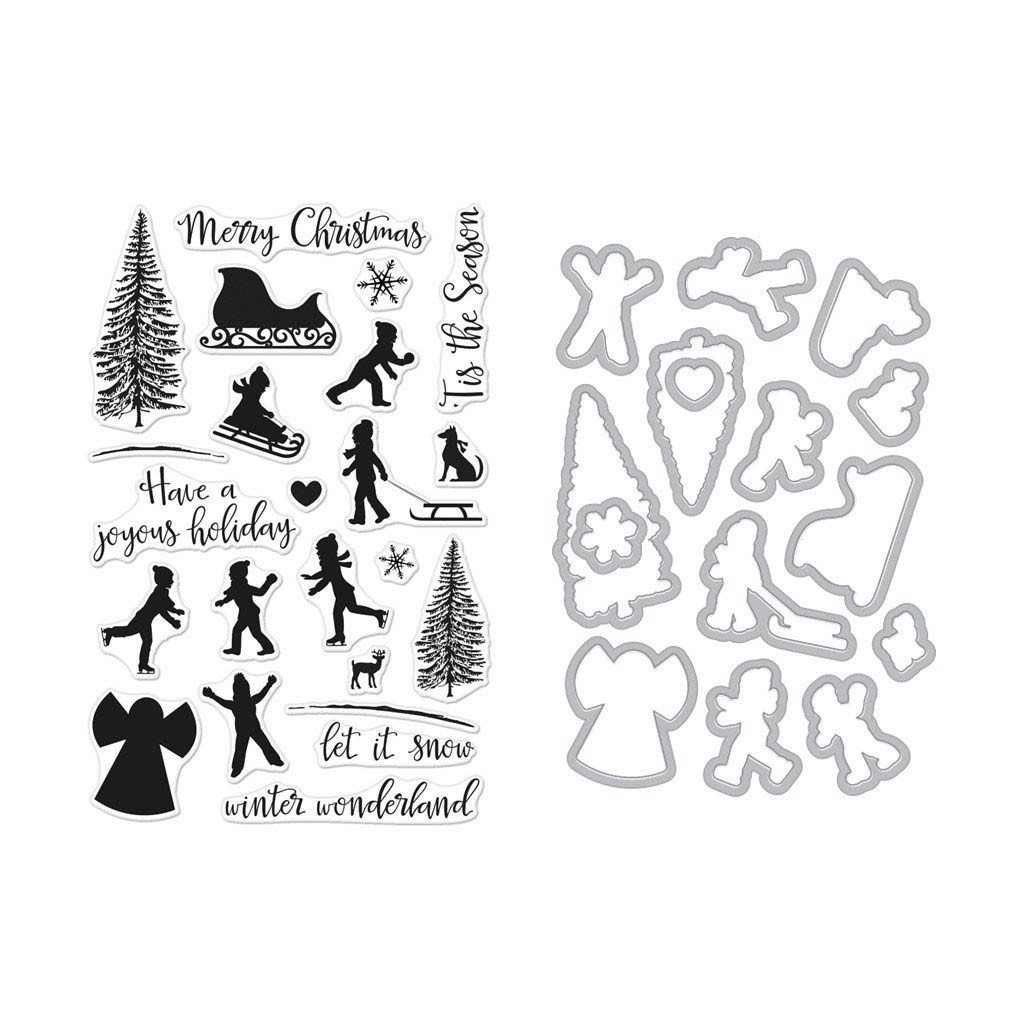 Hero Arts Winter Silhouettes Stamp + Die Combo