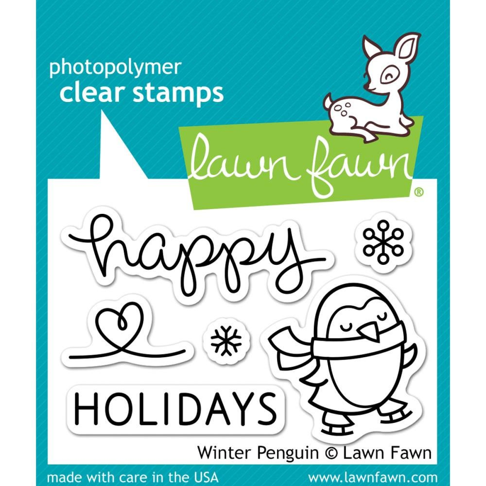 Lawn Fawn winter penguin Stamp