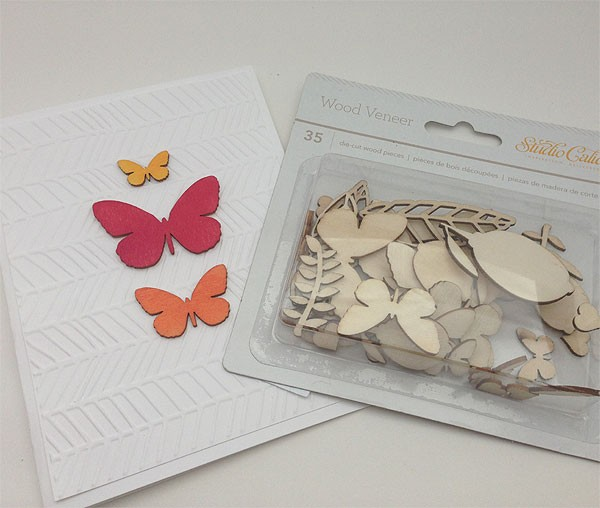 Butterflies and Leaves Wood Veneer