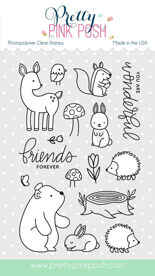 Pretty Pink Posh Woodland Critters Stamp Set