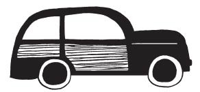 Woody Car Rubber Stamp 1599f