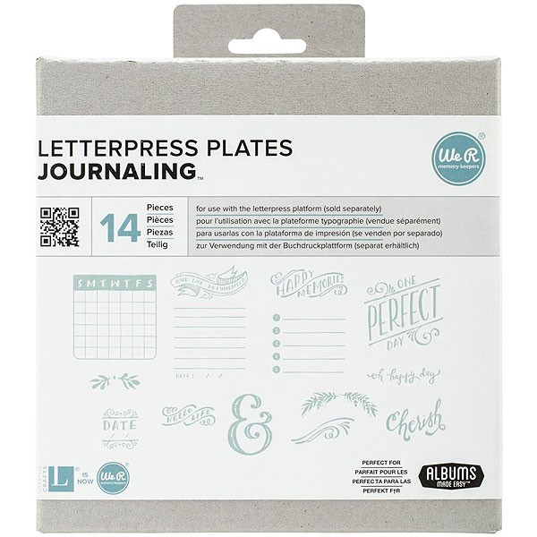 Journal Letter Press Plates