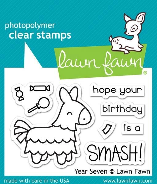 Lawn Fawn Year Seven Clear Stamp Set