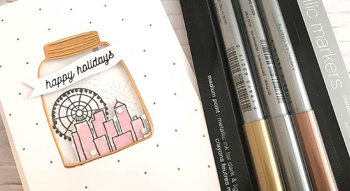 happy holidays Jar