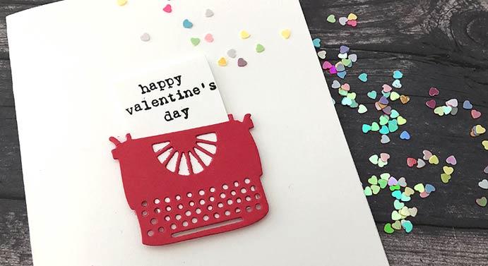 typewriter valentine