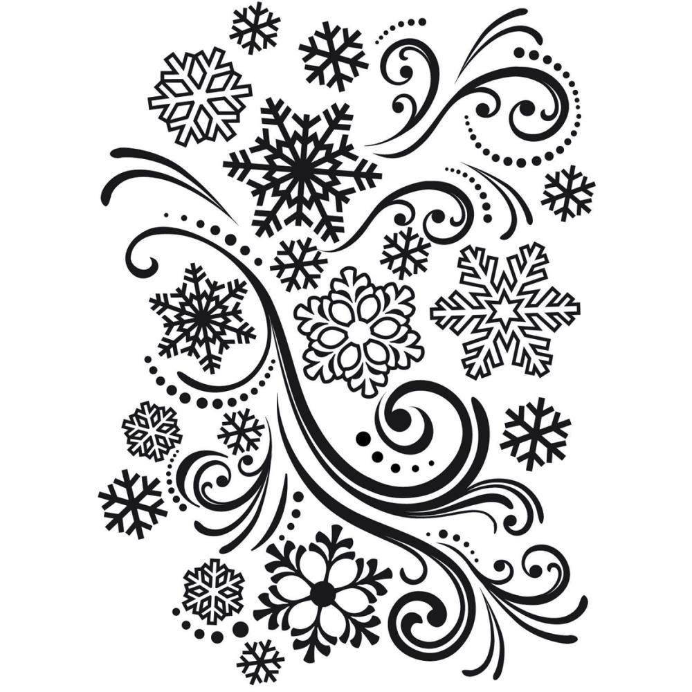 Snowflake Swirl Embossing Folder