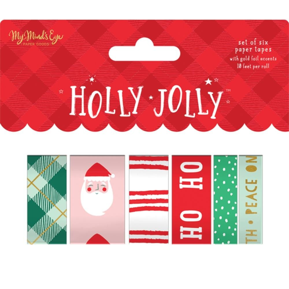 Holly Jolly Washi 6/Pkg