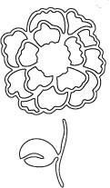 Flower with Stem Die (10003)