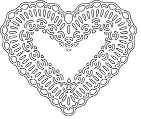SALE - Doily Heart Die (10069)