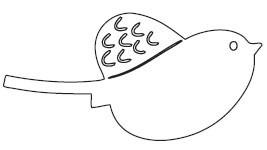 Feather Bird Die  (10102)