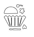 Paper Cupcake Die (10121)