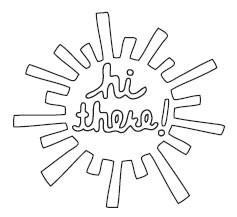 Hi There Sunshine Die (10166)