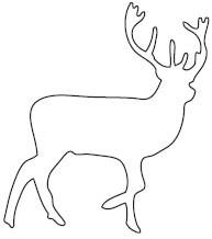 Deer Silhouette Die (10178)