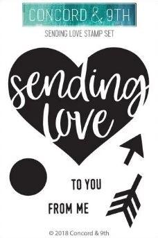 Concord & 9th Sending love stamp set