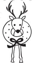 Wreath Reindeer (1327g)