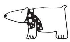 Polar Bear with Scarf (1391f)