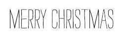 Merry Christmas typed (1396d)