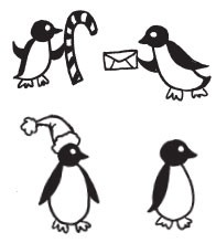 happy penguin cube (1519i)