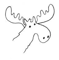 Moose Rubber Stamp (1551d)